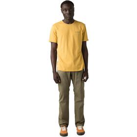 Prana Trail Elmnts Camiseta Manga Corta Hombre, Dorado